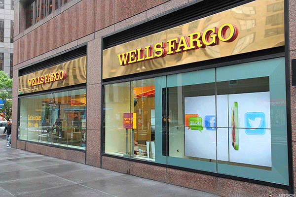 Rough day for Wells Fargo.