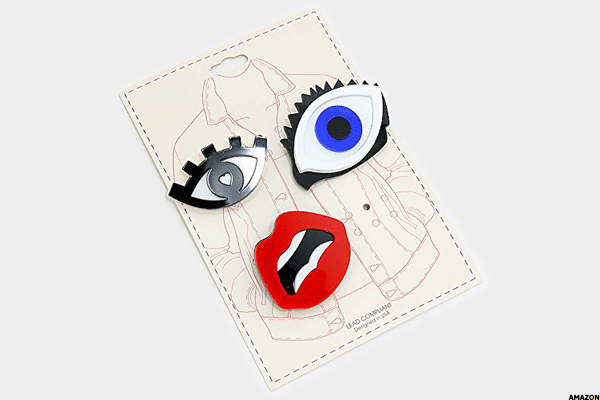 8. DennyBlaine & Co Emoji Brooches & Pins