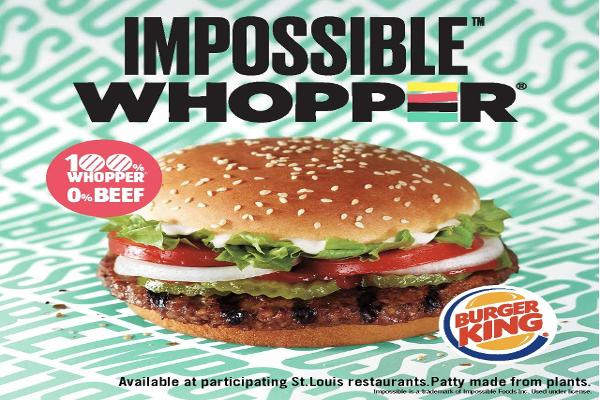 Burger King Plans Test of New 'Impossible' Vegetarian Whopper