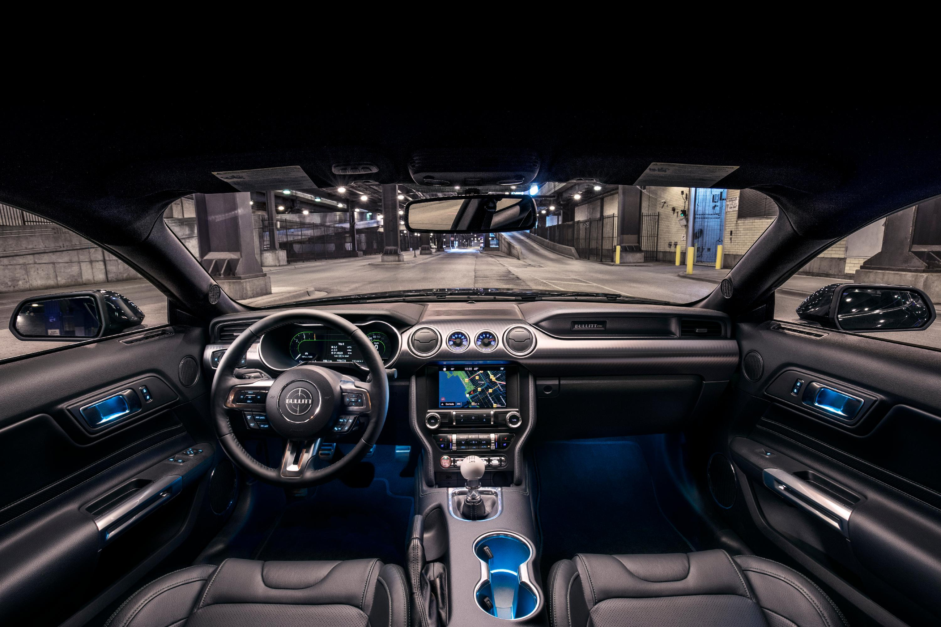 2019 Ford Mustang Bullitt (Interior). Source: Ford