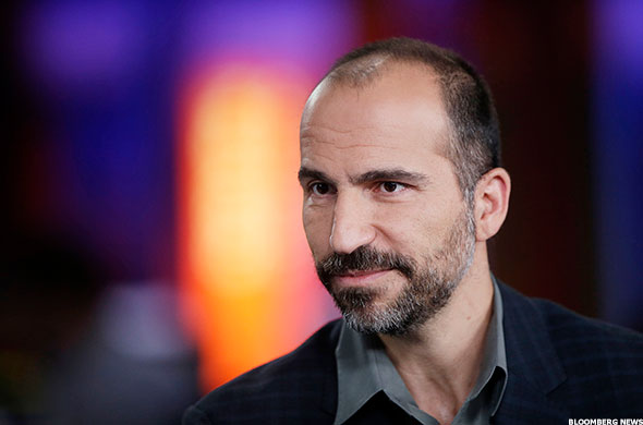 Uber CEO Dara Khosrowshahi took over for then-CEO Travis Kalanick earlier this year.
