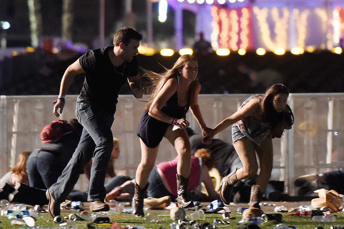 Scenes from Las Vegas attack.