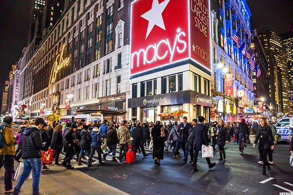 Macy's Retreats From Heavy Resistance