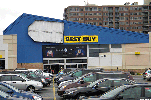 best buy bby is secretly venturing into the no frills outlet business thestreet. Black Bedroom Furniture Sets. Home Design Ideas