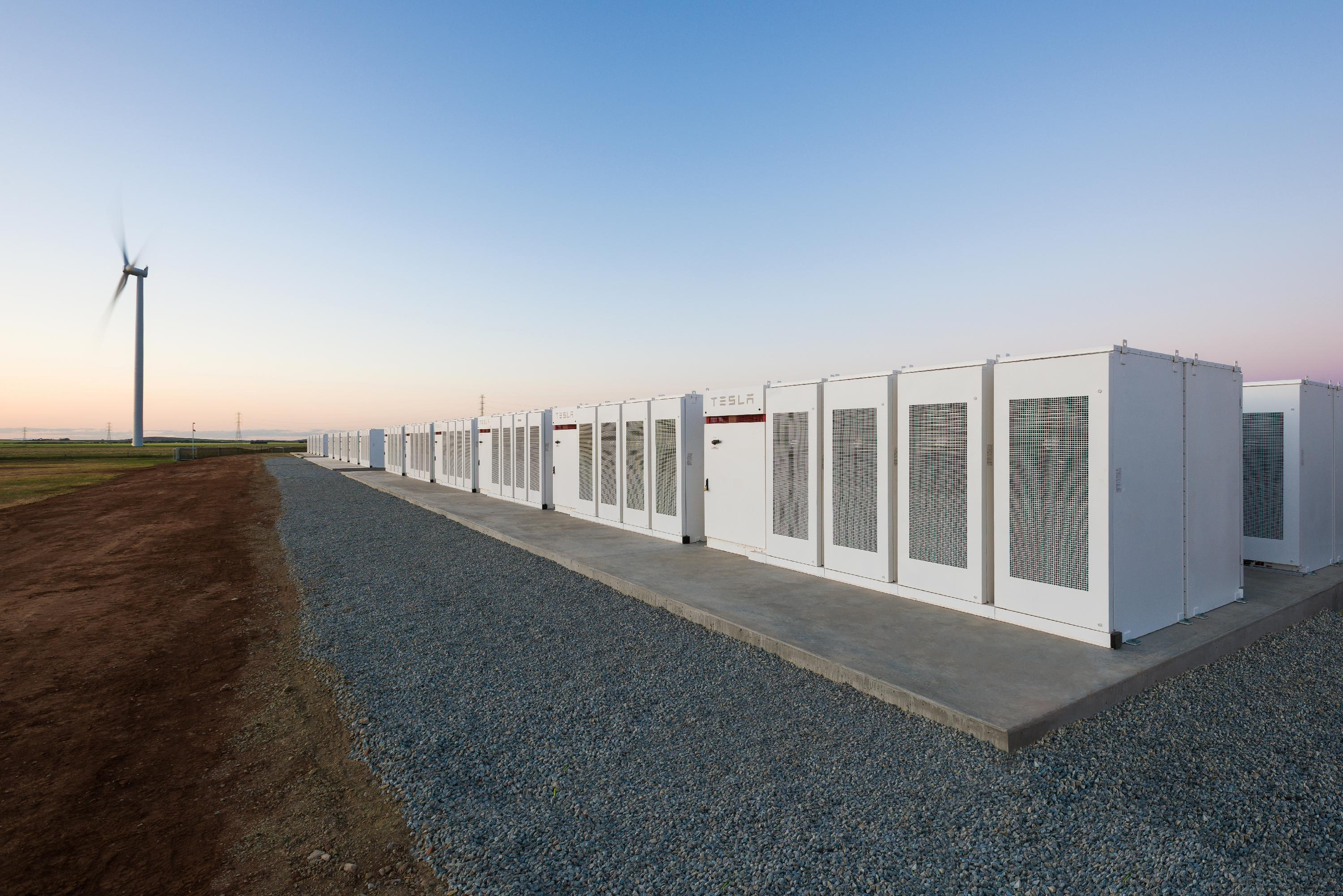 A Tesla Powerpack installation. Source: Tesla Inc.