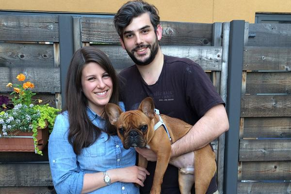 KEEPING UP WITH JONES: Kate and Ben Stern credit animal-insurance firm Trupanion with saving their French bulldog Jones.