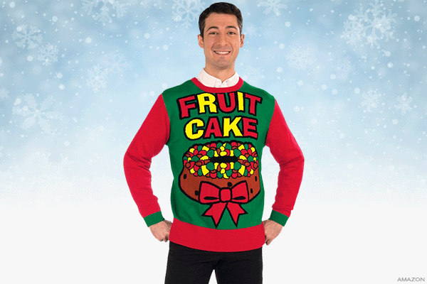 forum novelties fruit cake sweater - Ugly Christmas Sweater Amazon