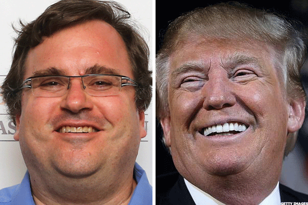Reid Hoffman's $5 Million Challenge to Donald Trump on Taxes Sets New, Huge Goal