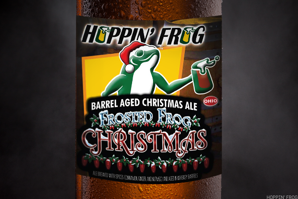 22. Barrel Aged Frosted Frog Christmas Ale