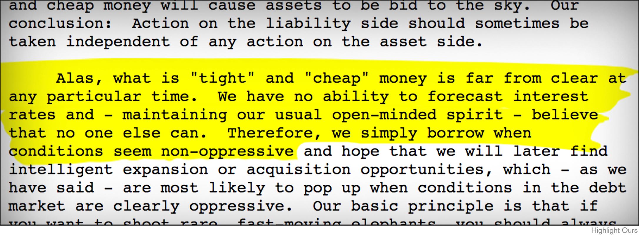 Warren buffett recalls black monday in berkshire letter thestreet always looking for favorable financing biocorpaavc Choice Image