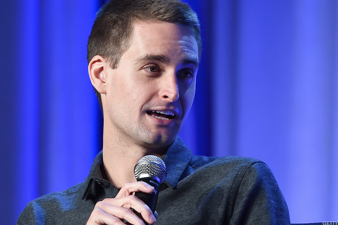 Snap's 27-year-old CEO Evan Spiegel.