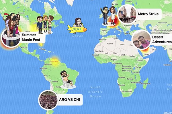 Snapchat's Snap Maps feature