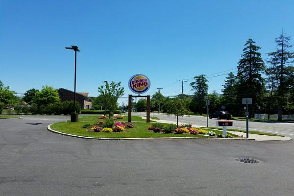 The lush lawn and fresh-looking flowers immediately told us this was a different Burger King.
