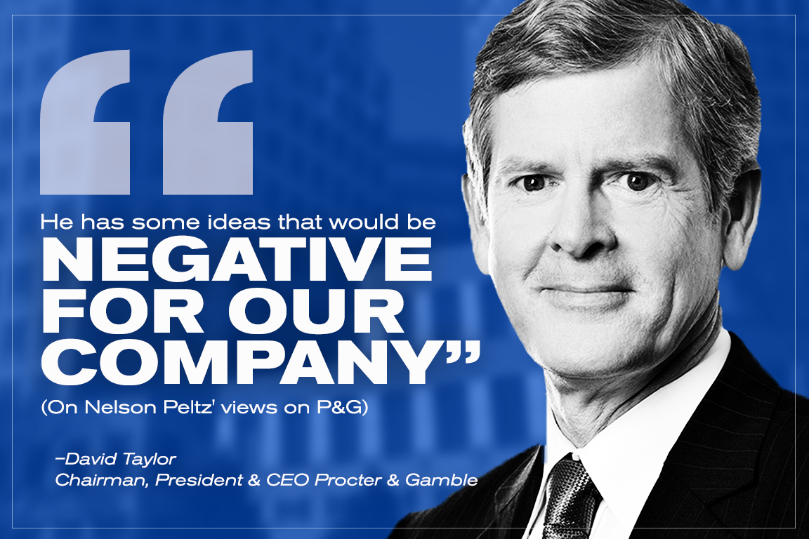 P&G CEO David Taylor expressed concern about Peltz in an interview with TheStreet earlier this year.