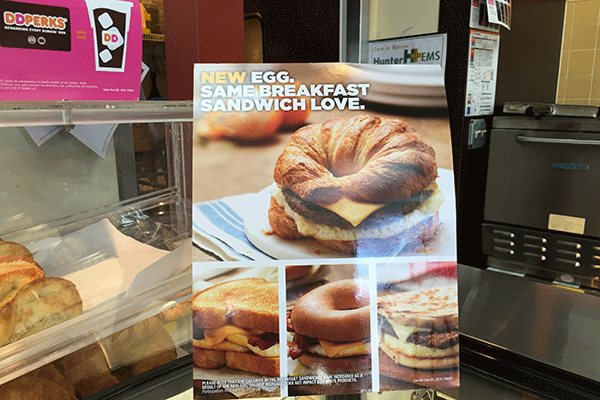 Dunkin' Donuts Tries New Egg-Like Food for Breakfast