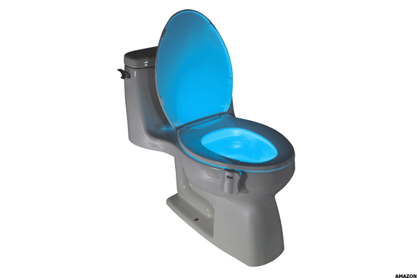 14. GloBowl Motion-Activated Toilet Nightlight