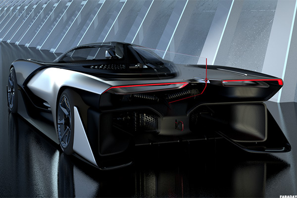 Faraday Future S New Car Looks Like The Batmobile But It Not A Tesla Tsla Thestreet