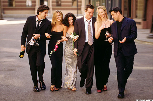 The main cast of Friends, which aired on NBC from 1994 to 2004.