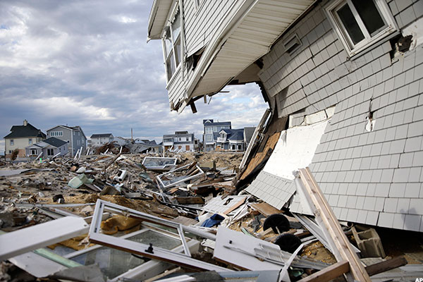 Damage from Super Storm Sandy