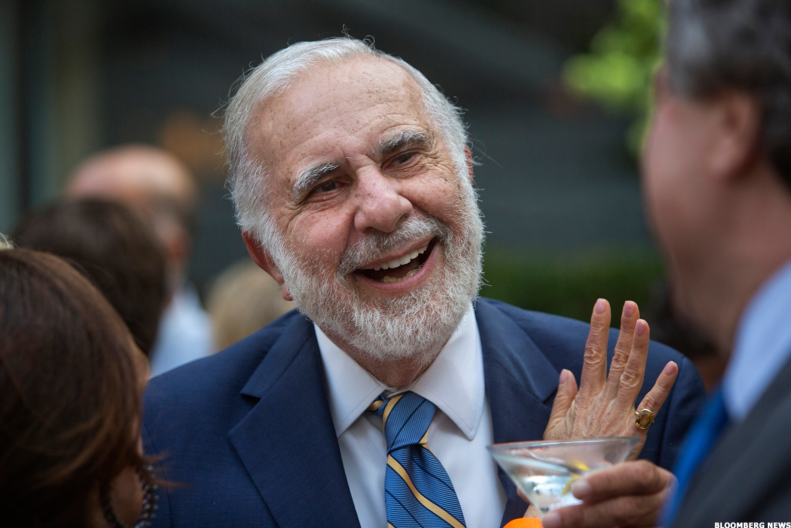 Corporate raider Carl Icahn.