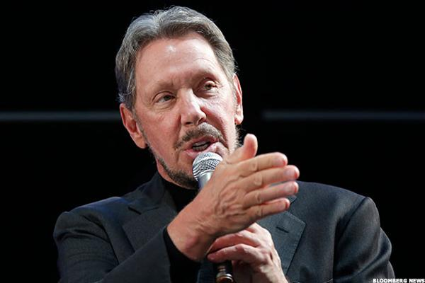 As Oracle's Cloud Business Grows, Ellison Throws Verbal Jabs at Rival Salesforce