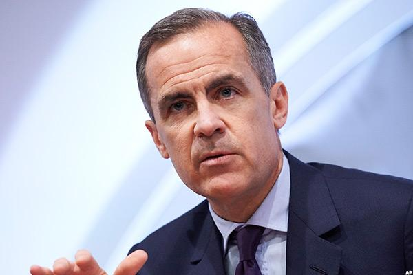 European Markets Rise; Bank of England's Carney Signals Rate Cuts