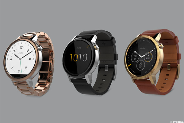 a275d3f0499 Moto 360 comes in two sizes -- 46mm and 42 mm. Both LCD touchscreens are  protected by Corning (GLW - Get Report) Gorilla Glass 3.
