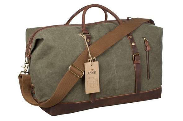 6a71ad6473 This army green over-sized duffle tote bag is perfect for just about any  occasion that takes you on the road. Use as a carry on or to store a change  ...