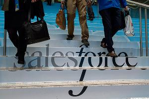 Salesforce Chart Projects $100 Target Hours Before Report