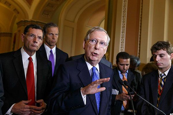 GOP Unveils Senate Healthcare Plan; Poll Says It's Less Popular Than Big Bank Bailout