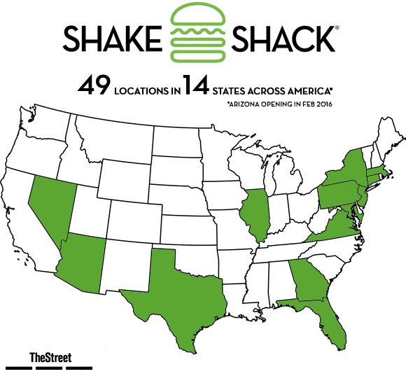 Shake Shack SHAK Expanding Soon To The Mecca Of Burgers In The - Burger map us