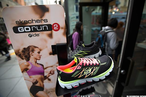 Skechers Stock Jumping on Cowen Upgrade