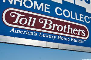 Jim Cramer -- Toll Brothers' Earnings Are Looking Good