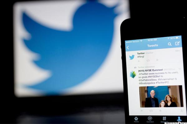 Twitter Falls After Downgrade, Yahoo! Shares Rise
