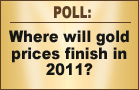 Gold Prices: Where Will They Finish 2011?